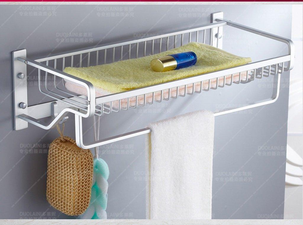 壁掛けのバスルームタオルラック ペンダントを棚浴室の棚タオルラックの浴室のタオルバーの浴室のタオルラック B07F6717WB