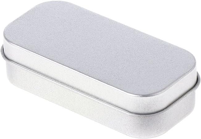 hgfcdd Mini portátil rectangular con bisagras Caja de almacenamiento de plata para kits de costura, pequeño gadget, kits de supervivencia: Amazon.es: Hogar