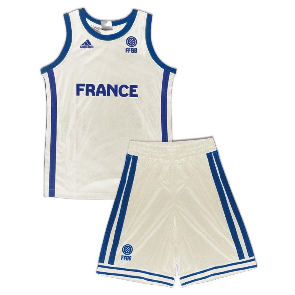 adidas Camiseta de La Francia Pantalón Baloncesto Kit, Color ...