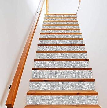 Pegatinas de pared Decoración para el hogar Apliques Vinilo adhesivo 18X100Cm Juego de seis escaleras de diseño retro Arte: Amazon.es: Bricolaje y herramientas