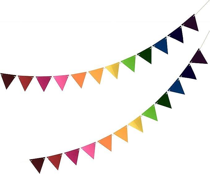 Multicoloured Rainbow Flag Bunting 20 Plastic Flags