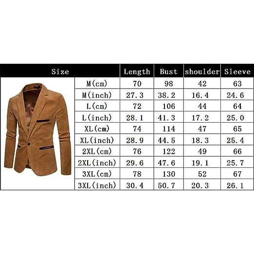 Amazon.com: Studyset Men Stylish Corduroy Suit Jacket Casual Coat Birthday Valentines Day Gift: Clothing