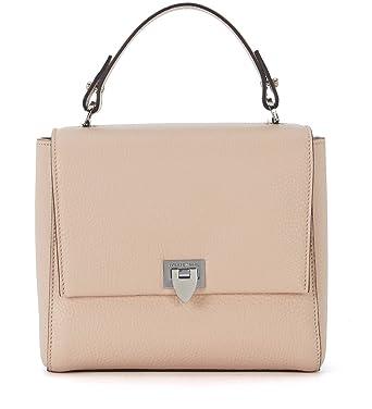 70bfcf8327 Philippe Model Borsa a mano Petit Model in pelle rosa cipria: Amazon.it:  Abbigliamento