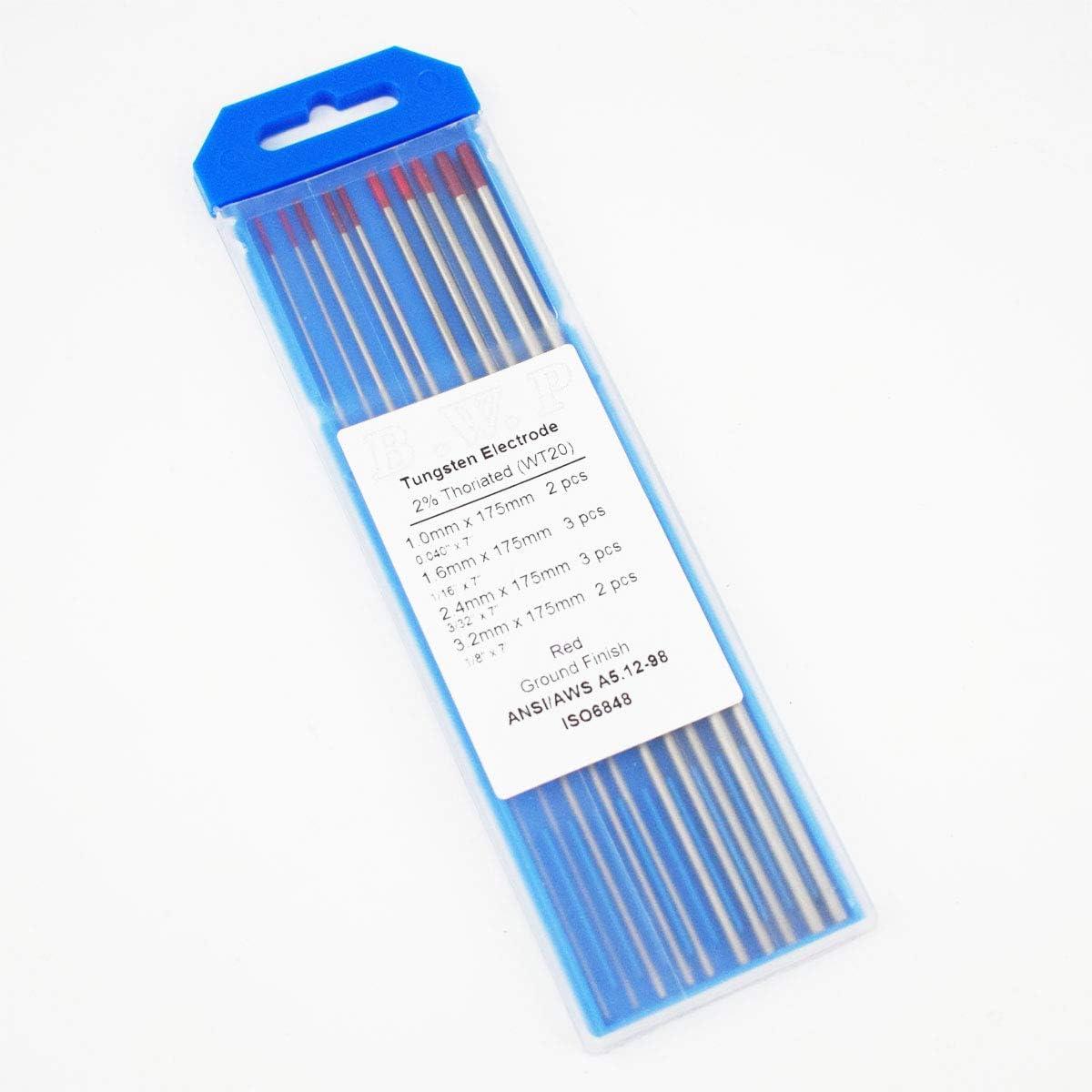 """2/% Thoriated Tungsten Blue Demon .040/"""" X 7/"""" Ground Tungsten Electrode"""