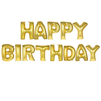 Decorations Of Cute Gold Alphabet Letters Balloons Bunting Banner Foil For Birthday Party Marriage Proposal And