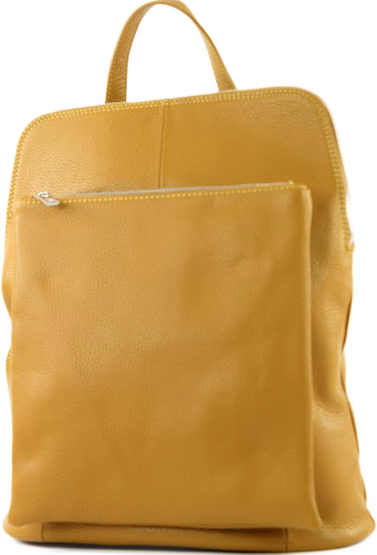 modamoda de - señoras italianas mochila bolsa de cuero T141 3en1