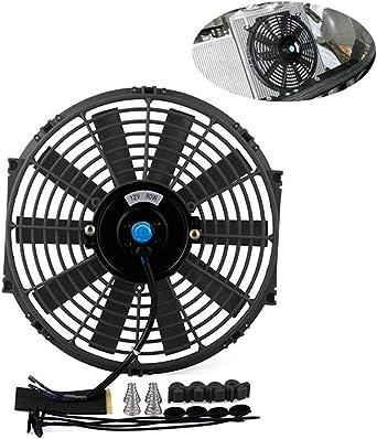 Ventilador de refrigeración para motor de coche, 12 V, tanque de agua eléctrico, radiador con 10 cuchillas de montaje para coche, 80 W: Amazon.es: Iluminación
