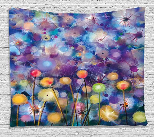 Flower Home Decor Tapestry by , Vibrant Garden Scenery