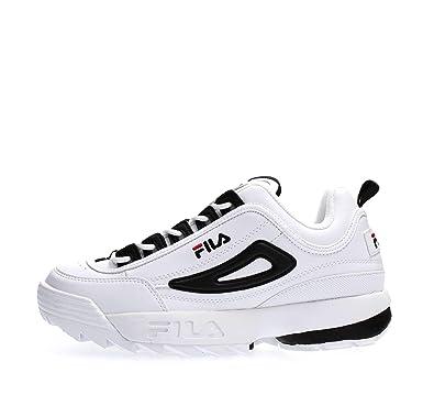 c5d96093aff1 Fila Sneaker pour Homme Disruptor CB Low en Cuir Blanc 1010575-00E ...