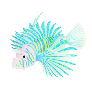 StraßEnpreis Ueetek 3pcs Aquarium Künstlichen Fisch Silikon Rotfeuerfische Schweben Dekora.. Haustierbedarf Dekorationen