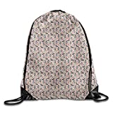 Pitbull Terrier Florals Dog Rescue Pets Cool Drawstring Travel Sports Backpack Gift
