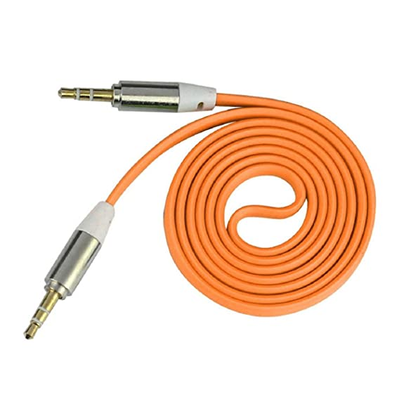 ABC® 3.5mm Stereo Auxiliary Cable Male to Male Flat Audio Music Aux Cord (