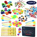 Amy&Benton 120PCS Prize Box Toys for Classroom Pinata Filler Toys for Kids Birthday Party Assorted Carnival Prizes for Boys and Girls Treasure Chest / Box Prizes for Teacher
