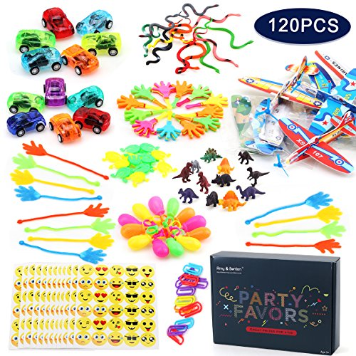 Amy & Benton 120PCS Prize Box Toys for Classroom Pinata Filler Toys for Kids Birthday Party Assorted Carnival Prizes for Boys and Girls Treasure Chest / Box Prizes for (Pinata Filler)