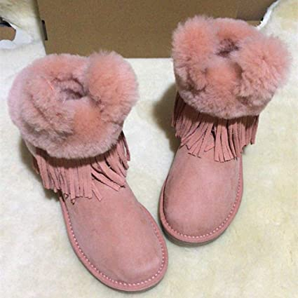 070f5f5d5014 Hy Women s Boots New Winter Leather Plus Cashmere Warm Snow Boots, Ladies  Fashion Booties Student