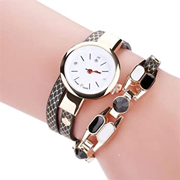 Fashion Leisure Watches Women Casual Elegant Quartz Ladies Bracelet Watch Crystal Diamond Leather Wrist Watch Gift