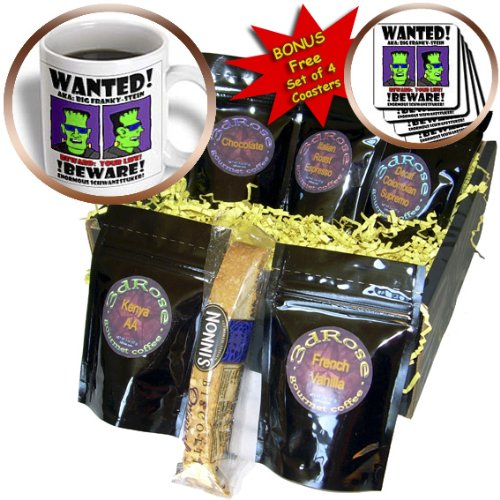cgb_25535_1 Mark Grace GRACEVISIONS Wanted Posters - WANTED POSTER big franky stein 1 on transparent - Coffee Gift Baskets - Coffee Gift Basket