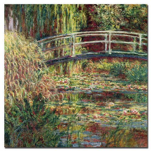 Water-Lily Pond Pink Harmony, 1900 by Claude Monet, 14x14-Inch Canvas Wall Art ()