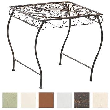 CLP Table de Jardin Carrée ZARINA | Table de Balcon de Style Nostalgique en  Fer Hauteur 46 cm | Table de Terrasse à 4 Pieds Stable | Meuble de ...