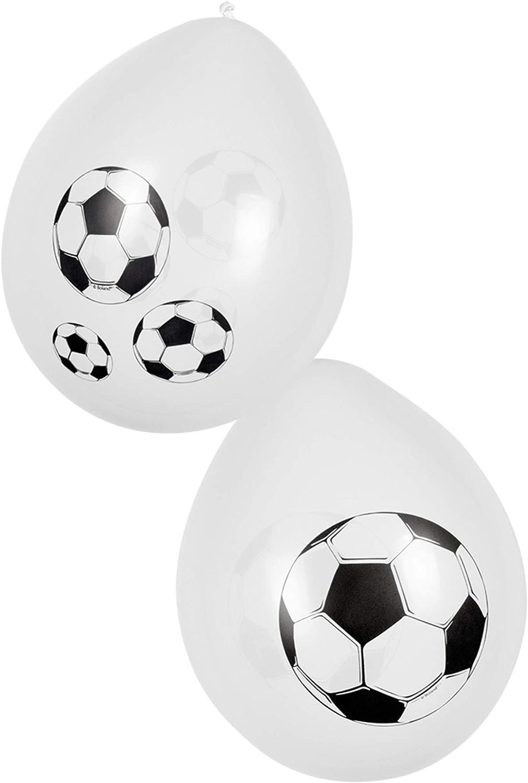 COOLMP – Lote de 12 Globos de fútbol para Fiestas, 25 cm, tamaño ...
