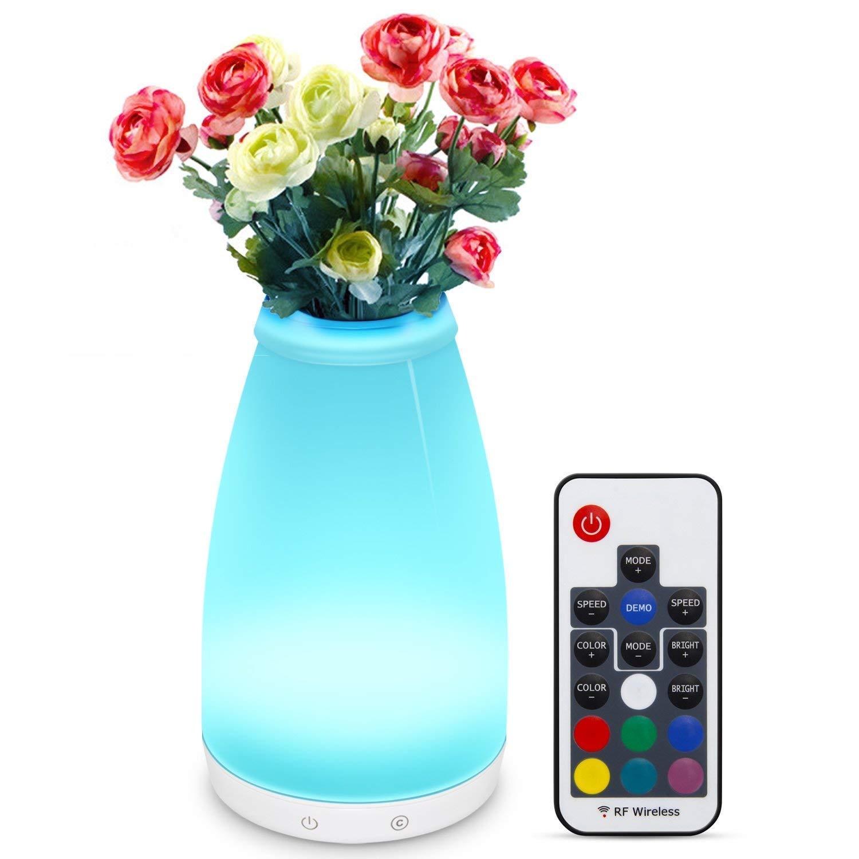 Albrillo Nachttischlampe mit 360° Touch Sensor Dimmbar Warmweißes Licht Smart Stimmungslicht mit 256 Farbkombinationen als Dekolampe für Kinderzimmer [Energieklasse A] LL-AL-001