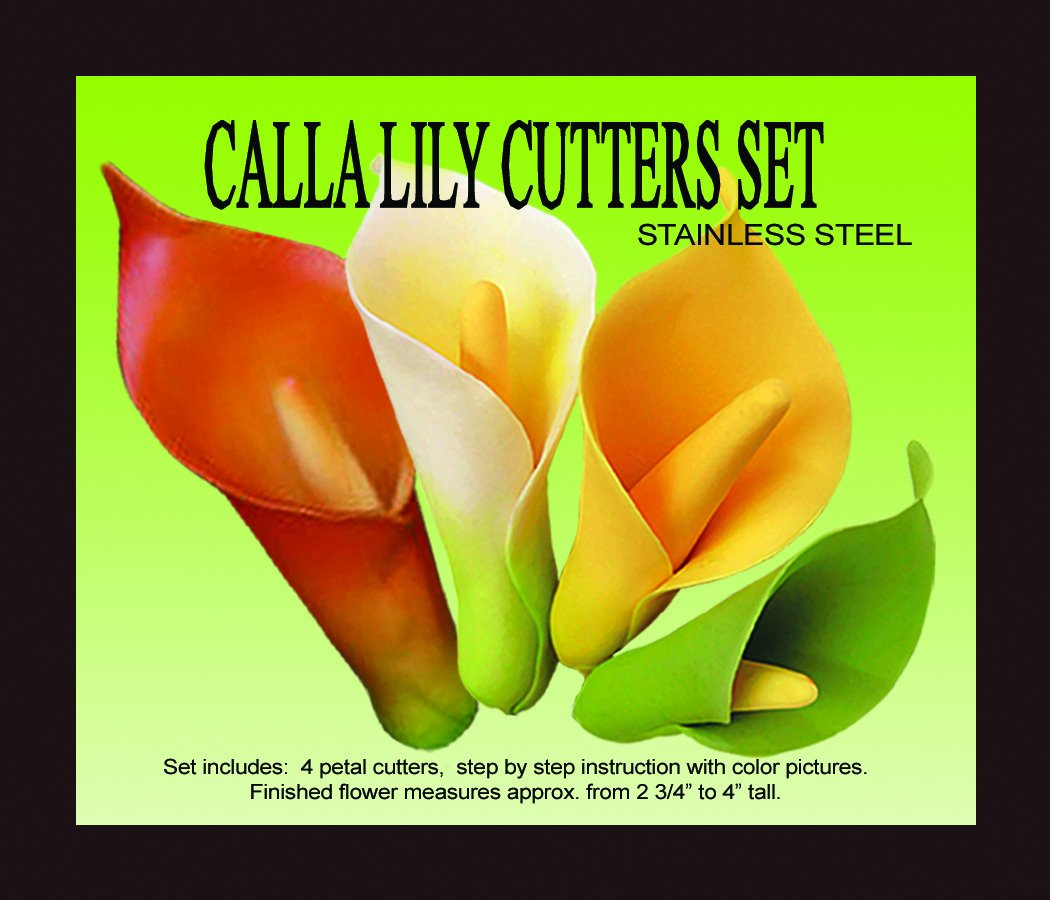 Amazon Calla Lily Gumpaste Cutter Set By Petal Crafts Food