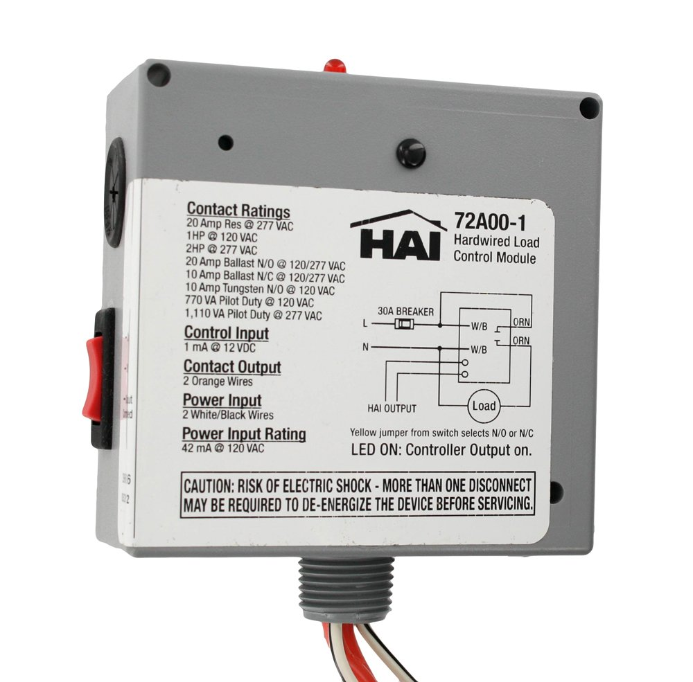 Leviton 72a00 1 Hardwired Load Control Module Connected Home 120vac Disconnect Wiring Modules