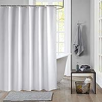 Meiosuns Cortina de baño Peva Blanco, Impermeable