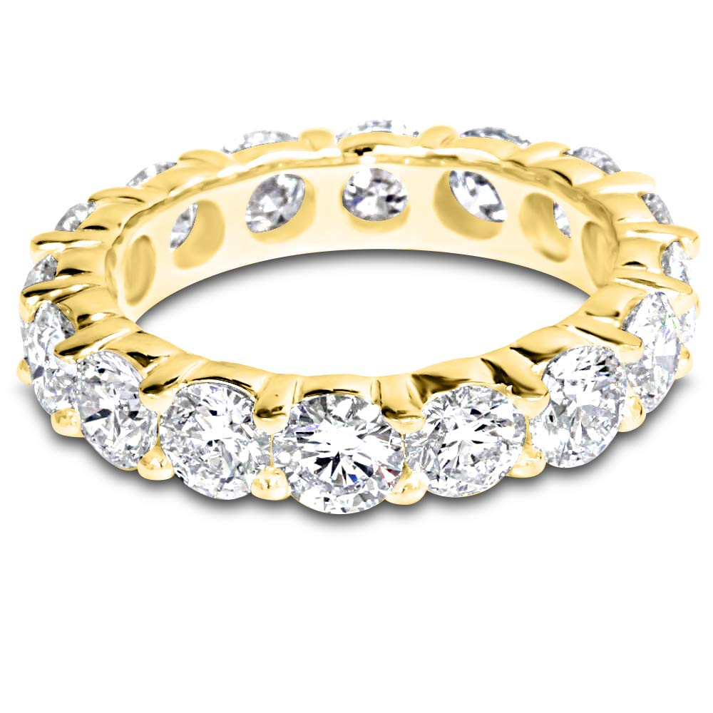 5 Carat (ctw) 14K Yellow Gold Round Diamond Ladies Eternity Wedding Anniversary Stackable Ring Band Value Collection by Houston Diamond District