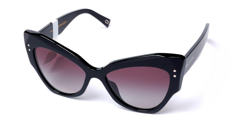 Marc Jacobs Women's Marc116s Cateye Sunglasses, Black/Dark Gray Gradient, 52 mm