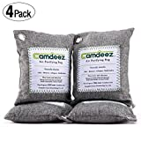 Camdeez Natural Air Purifying Bag,Coconut Shell Activated Carbon Air Freshener, Odor Eliminator for Cars,Closet,Shoes,Kitchens,Basements,Bedrooms.4 pack (200-Grams)