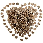 Shaped Rustic Wooden Love Heart Crafts Wedding Table Scatter Decoration