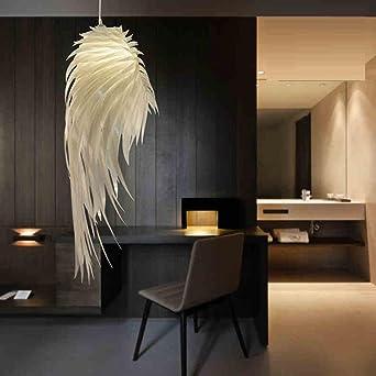 Moderne Elegante Pendelleuchte Weiß Federlampe Hängelampe Künstlerisches Design  Gemütliche Leuchte 1×E27 Höhenverstellbare Für Wohnzimmer
