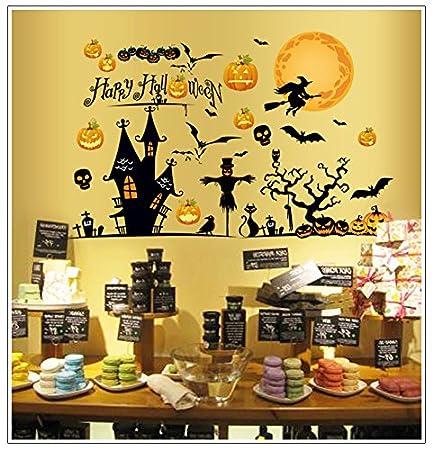Halloween Stickers Aesthetic.T Mida Home Halloween Carnival Night Bedroom Aesthetic Green