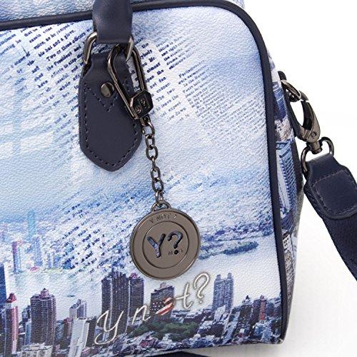 Y NOT? - Borsa bauletto donna h-337 New York Blue Manhattan