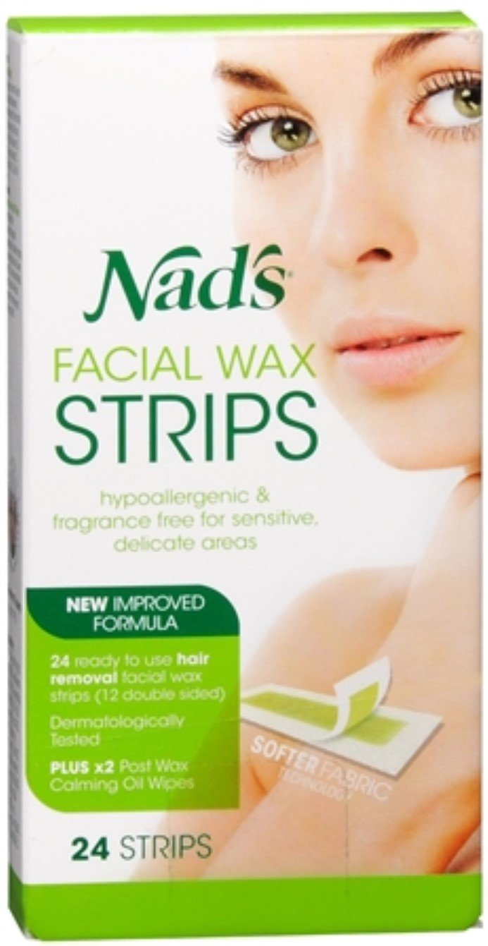 Nads Facial Wax Strips Size 24ct Nads Facial Wax Hair Removal Strips 24ct