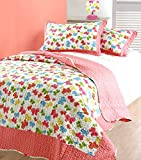 Childrens Bedding Quilted Butterflies Beadspread / Comforter Throws Single Bed