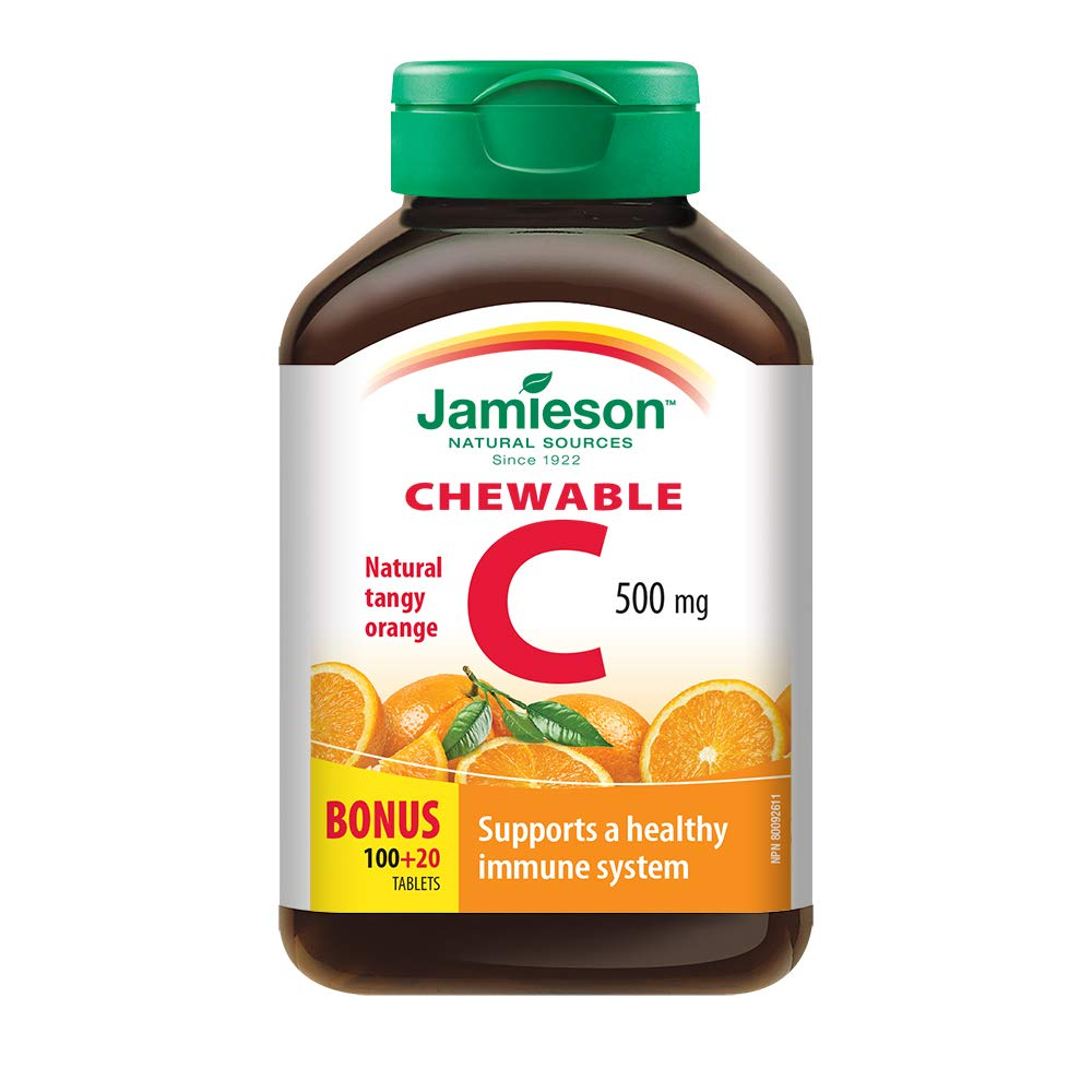 Jamieson Vitamin C Orange 500mg 120 Tablets