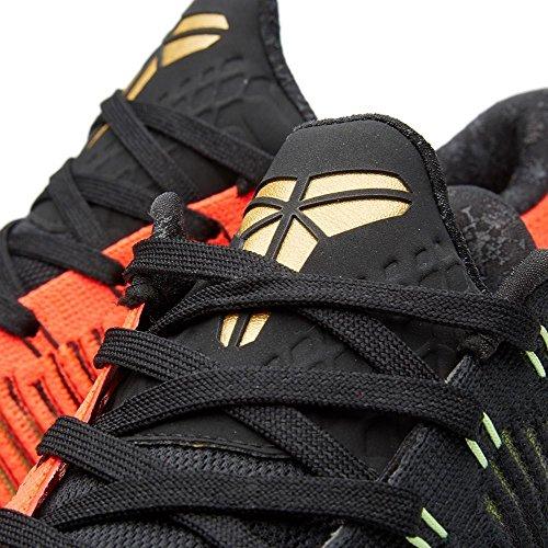 Männer Nike Kobe 10 Elite Niedrige Weihnachten Basketball Schuhe - 802560 076 Schwarz / Metallic Gold / Bright Crimson