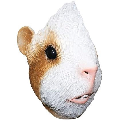 YO Máscara de látex de Cabeza Completa para Disfraz de cobaya ...
