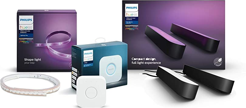 Philips Hue Gaming Set - Compatible con Amazon Alexa, Apple Homekit y Google Home: Amazon.es: Iluminación