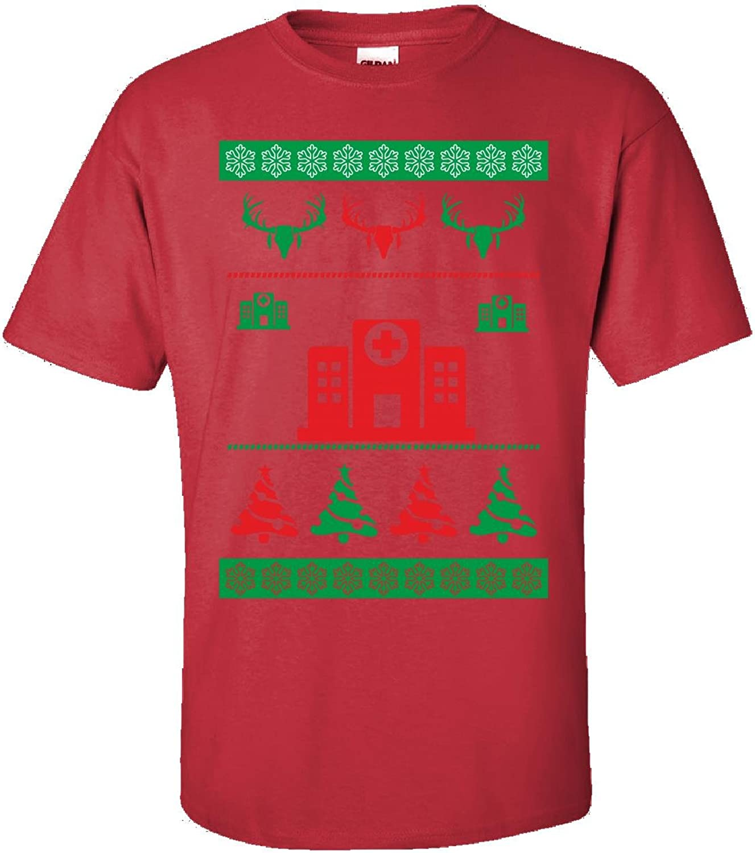 Ugly Christmas Sweater medicina médico enfermera lactancia regalo–Adulto camiseta