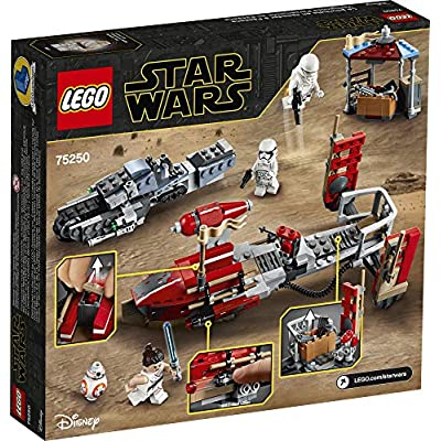 LEGO Star Wars: The Rise of Skywalker Pasaana Speeder Chase 75250 Hovering Transport Speeder Building Kit with Action Figures (373 Pieces): Toys & Games