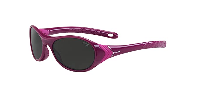 Cébé Kinder Sonnenbrille, Cricket Shiny Purple Neon Pink 2000 Grey, S, CBCRICK2
