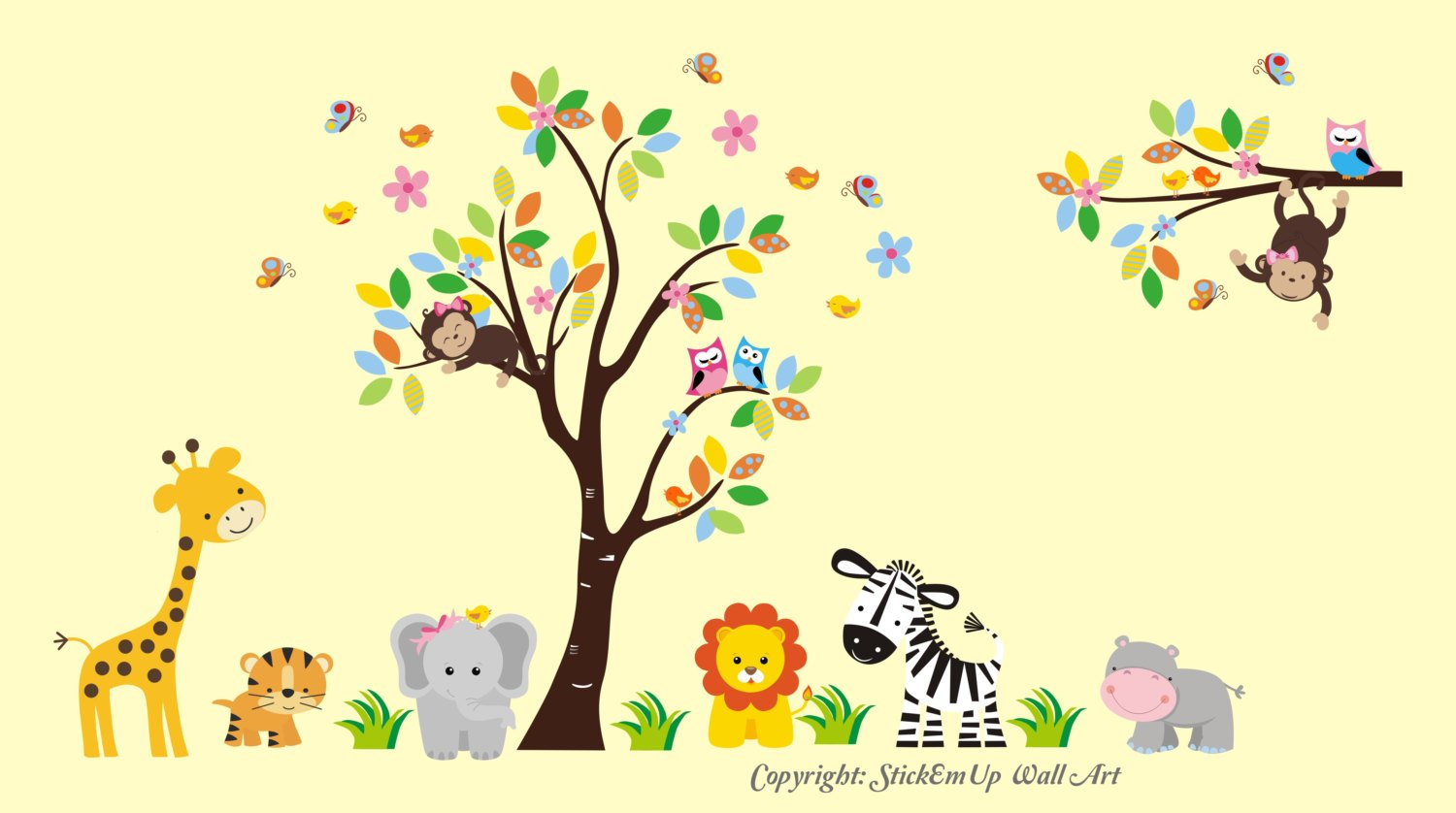 Amazon.com: Wall Decals for Kids - Large Tree Decal - Nursery Room ...