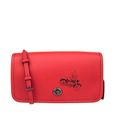 9d705f2a8 Disney x Coach Penny Crossbody In Glove Calf Leather With Mickey Red ...