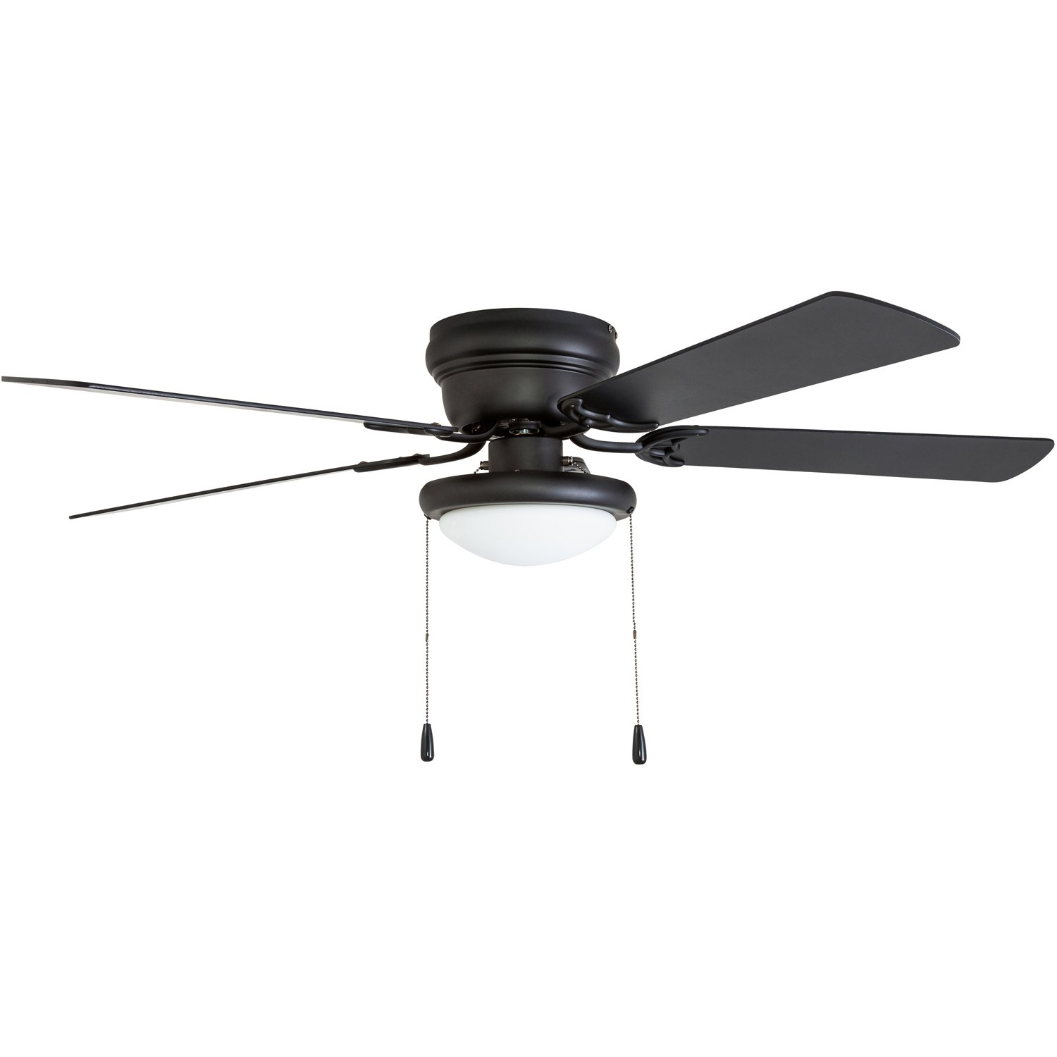 Portage Bay 50251 Hugger 52'' Matte Black West Hill Ceiling Fan with Bowl Light Kit by Portage Bay (Image #10)