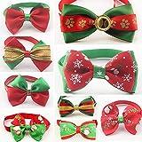 50 Pcs Mix Style Handmade Christmas Dog Bow Ties Wholesale