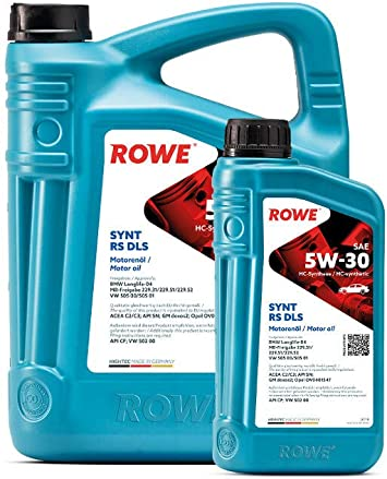 6 5l 1l Liter Rowe Hightec Synt Rs Dls Sae 5w 30 Motoröl Made In Germany Auto