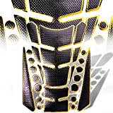 07 crf250r dual exhaust system - 3D 13-Piece Custom Fuel / Gas Tank Pad Protector Decal / Sticker Black + Chromed Gold